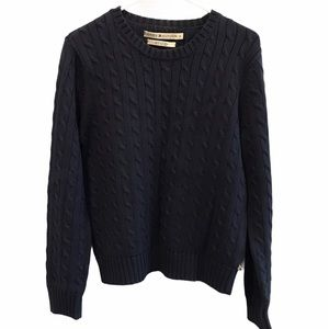Tommy Hilfiger navy round neck sweater size large